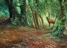 In the wood (olio su tela, 50x70,2013)